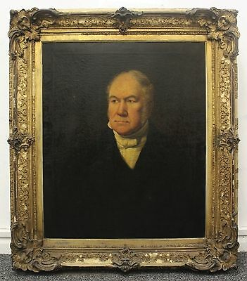Fine Large 18th - 19th Century English Antique Portrait Oil Painting