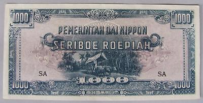 Rare! 1945, Netherland Indies 1000 Roepiah Note, Japanese Occupation WWII, AU.
