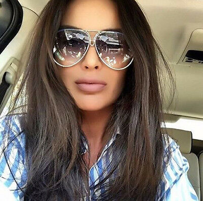 Men or Women Oversized Classic Vintage Retro Aviator Twirl Style Sunglasses