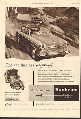 1956 Sunbeam Rapier Car Auto Race Rootes Mountain Rally Piccadilly Motor 18547