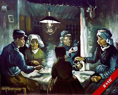 Poor Potato Eaters Peasants Vincent Van Gogh Painting Art Real Canvas Print