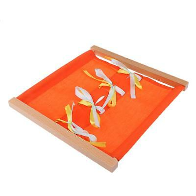 Kids Baby Wooden Clothing Box Bowknot Educational Toy Montessori Early Learn