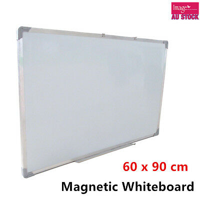 Magnetic White Board 60x90cm Portable Whiteboard Aluminium Frame Home Office YW