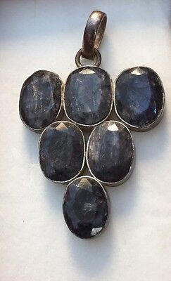 Vintage Antique Old Witch Owned Rare Raw Sapphire 'The Secret' Haunted Pendant
