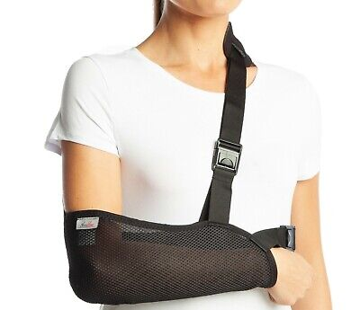 ArmoLine Arm Sling Shoulder Immobilizer Bracing High Pouch Support Strap Black