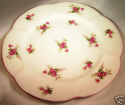 "SHELLEY BONE CHINA BRIDAL ROSE PINK 8"" DIAMETER SALAD or LUNCHEON PLATE!"