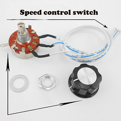 WH118-1A potentiometer 10K speed control knob switch 3P linear control handle