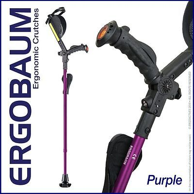 Ergobaum Ergonomic 7G Royal Adult Forearm Crutches - 1 Pair - Purple