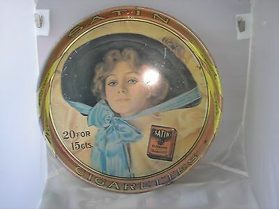 Satin Cigarettes Metal Serving Tray