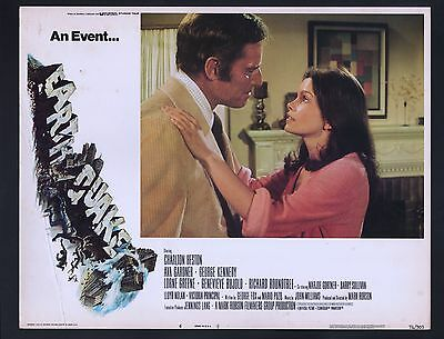 Earthquake Lobby Card #6-1974-George Kennedy and Genevieve Bujold