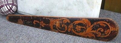 Antique Treen Boxwood Arts & Crafts Floral Decoration Page Turner~Book Marker