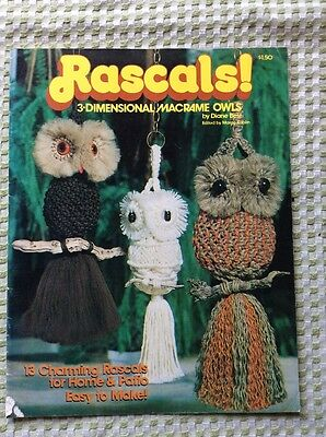 Rascalsw 3-Dimensional Macrame Owls By Diane Best