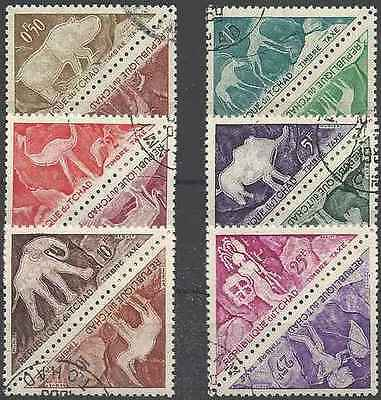 Timbres Préhistoire Tchad taxe 23/34 o lot 20231