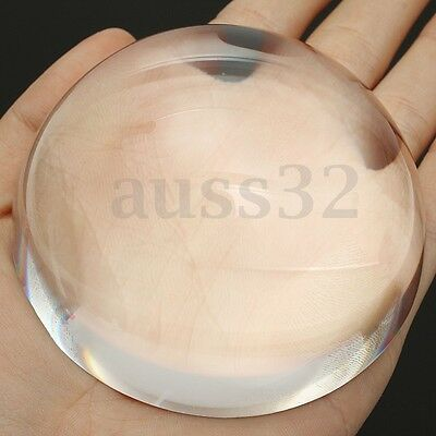 80mm Big Clear Magnifying Glass Paperweight Dome Magnifiers Semi Crystal Ball