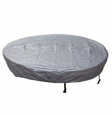 Round Spa Cover Guard Durable Woven Polyethylene Made UV Resistant Waterproof