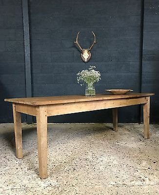 Antique French Country Farmhouse Kitchen Dining Table