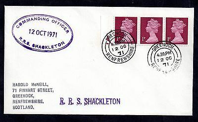 GB QEII 1971 Postal History cover from Ship RRS Shackleton WS4267