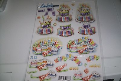 1X 3D Die Cut Sheets  Le Suh 30X21 Cm New (X13) No Scissors Need New