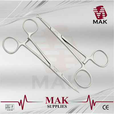 "M@K Wilson Sutureless Vasectomy Set of 2 ""Sharply Pointed & Elevation Clamp"""
