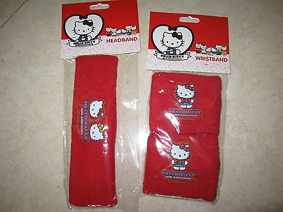 NWT Hello Kitty 40th Anniversary Headband and Wristbands Set ** BRAND NEW **