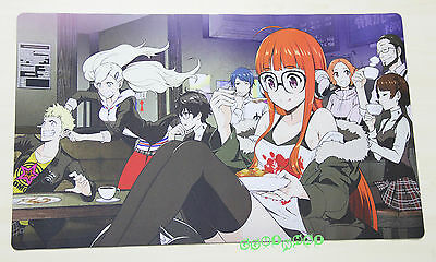 F1557 Free Mat Bag Persona 5 P5 Group Yugioh MTG Vanguard Playmat Game Mouse Pad