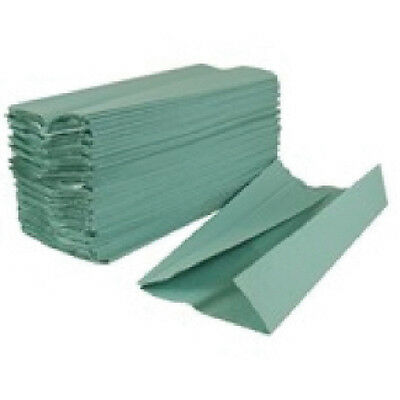 2Work Green 1-Ply C-Fold Hand Towel (Pack of 2955) KF03801