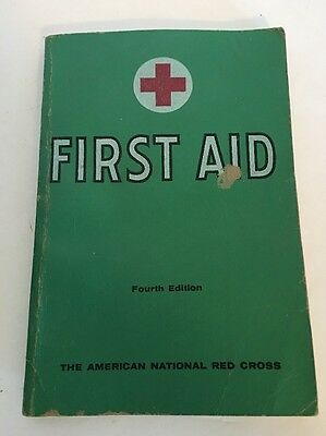 Vintage American National Red Cross First Aid Manual Textbook 1957 Illustrated