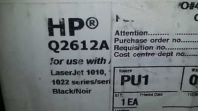 Non-OEM Q2612A for use in HP LaserJet 1010 1018 1020 1022 3015 3020 3030 3050