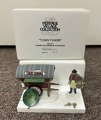 Dept 56 Heritage Village Collection 56464 Town Tinker Near Mint in Box