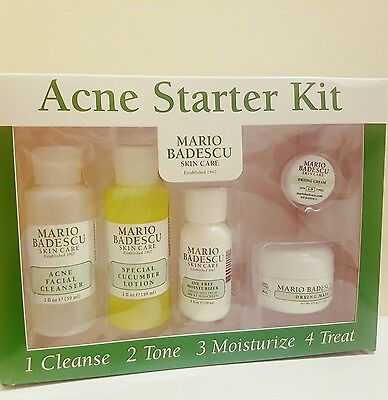 Mario Badescu Skincare, Acne Starter Kit.Cleanser, Cucumber Lotion, Drying Mask