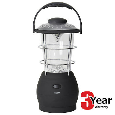 16 Led Eco Wind Up Lantern Rechargeable Camping Fishing Light Lamp 3Yr Warranty