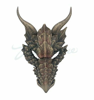 Fierce Dragon Mask Wall Plaque Statue Sculpture HOME DECOR