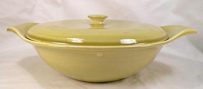 Russel Wright American Modern Covered Vegetable Bowl Chartreuse Steubenville