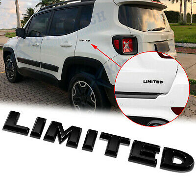 3D Metal Black Limited  Badge Emblem Chrome Car Rear Decoration Sticker for Jeep