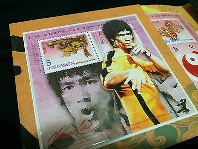 Bruce Lee Taiwan Collector's Stamp Set with serial-number Out of print Kung Fu