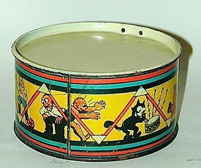 Felix The Cat Lithographed Tin Toy Drum Made in Spain late 1920s