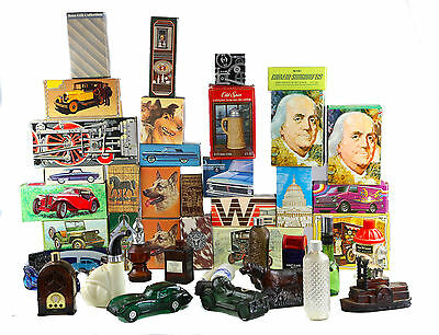 Lot of 43 Vintage Empty Avon After Shave Glass Collectible Bottles