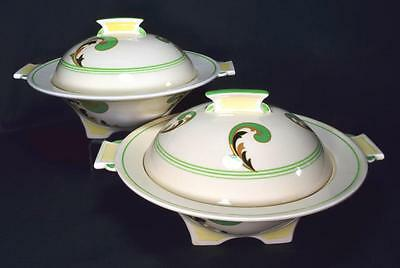 Royal Doulton Art Deco Pottery Tureens Lynn Pattern, C.1930