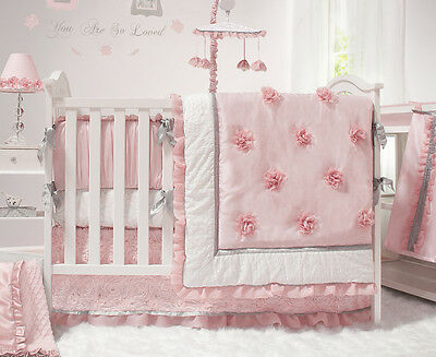 The Peanut Shell Arianna 5-Piece Cot Set - Pink
