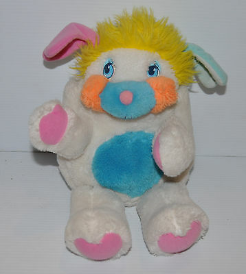 vintage PUFFBALL POPPLES Plush DOLL Mattel 1985 clean  (missing tail)