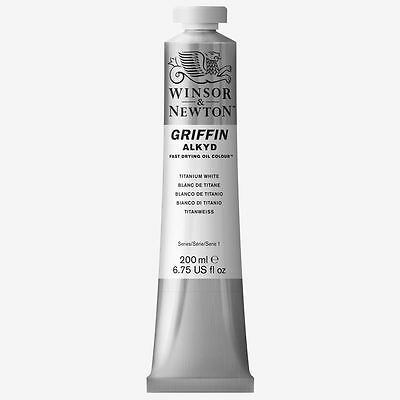 Winsor & Newton Griffin Alkyd Fast Drying Oil Colour 200ml Tube - Titanium White