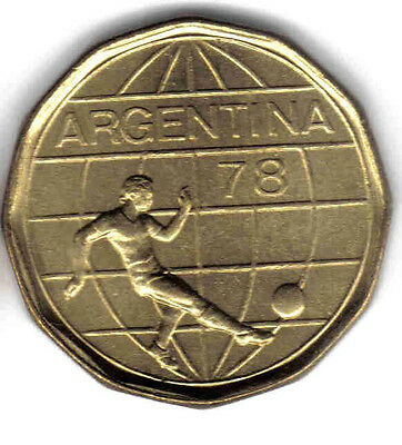 Argentina 3-Pc Soccer Uncirc. Coin Set: 20 To 100 Pesos
