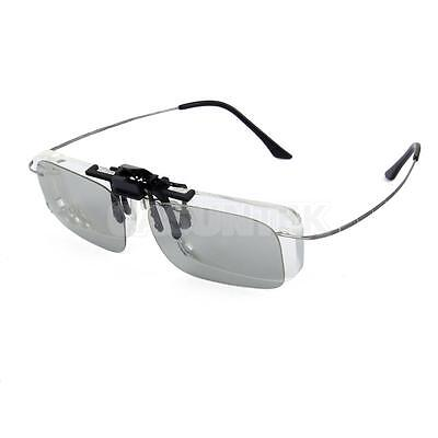 Clip on Polarized Circular 3D Glasses for Home TV IMAX Cinema Movie Film