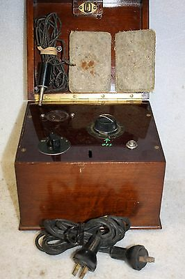 Vintage Rare Quack Electrical  Medical  Apparatus Box
