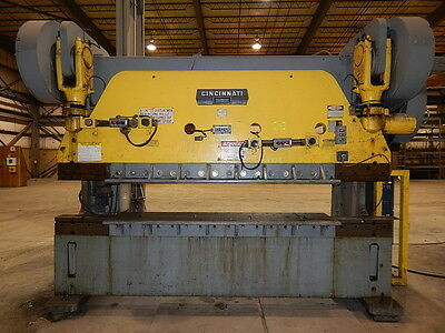 Cincinnati Mechanical Press Brake Series 9 90 / 225 Tons X 12' Removable Flanges