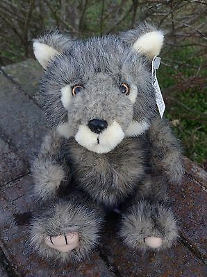 National Wildlife Federation NWF Plush Gray Wolf Steven Smith With Tag