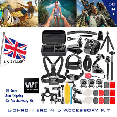 Original GoPro Hero 4 5 Session Action Camera Accessory Kit Neewer 50 in 1 UK