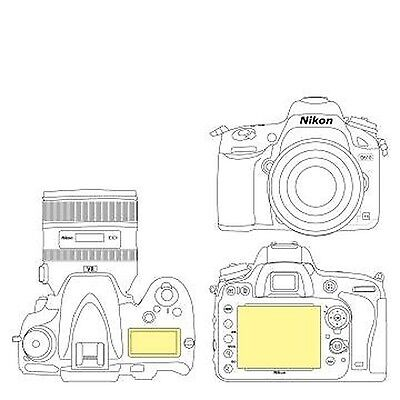Martin Fields Overlay Plus Screen Protector (Nikon D610) - Includes Top LCD S...