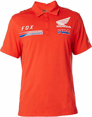 Fox Racing Honda HRC USA Racing Polo Tee Supercross Motocross Ken Roczen