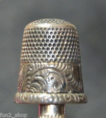 Sterling Silver Sewing Thimble Ornate & Beautifully crafted Sz10, 5 GRAMS, EC